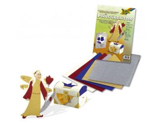 Vytlačované papíry- ornamenty- sada 10 listů, 220g,23x33 cm