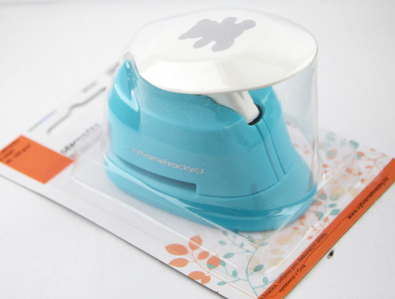 Děrovačka na pěnovku a papír 25 mm - Méďa