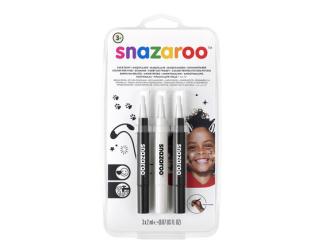 """Štětce """"brush pen"""" naplněné barvou na obličej  - černobíločerný"""
