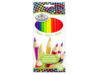 Neonové pastelky, 12 ks