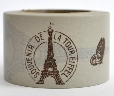 Dekorační lepicí páska - WASHI pásky -1ks Eiffel