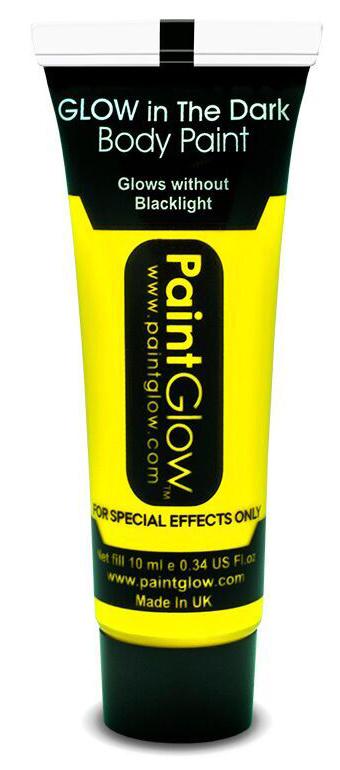 """Barvy na obličej - svítící ve tmě - 13 ml žlutá """"Intense Yellow"""""""