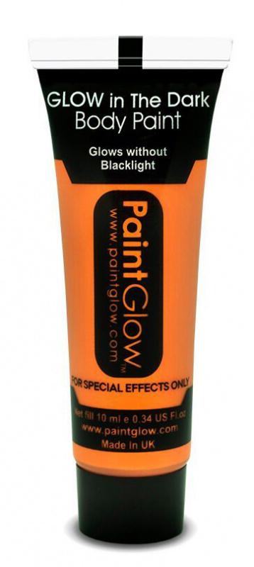 """Barvy na obličej - svítící ve tmě - 13 ml oranžová """"orange"""""""