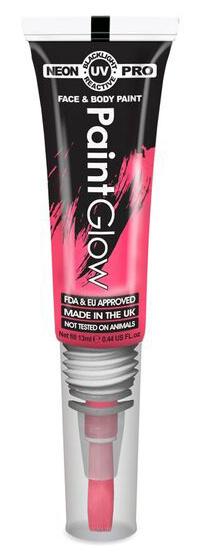 """Barvy na obličej UV neon PRO se štětečkem 13 ml - červená """"UV red"""""""