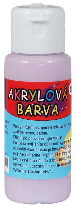 Akrylová barva 60ml - světle fialová (pale violet)