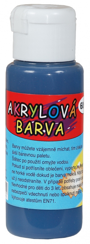 Akrylová barva 60ml - tmavě modrá (deep blue)