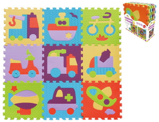 Pěnové puzzle 9 ks 30x30x1cm, doprava