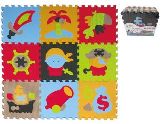 Pěnové puzzle 9 ks 30x30x1cm, pirát