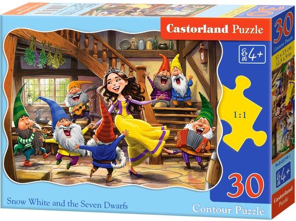 Puzzle Castorland 30 dílků - Tančící Sněhurka a sedm trpaslíků