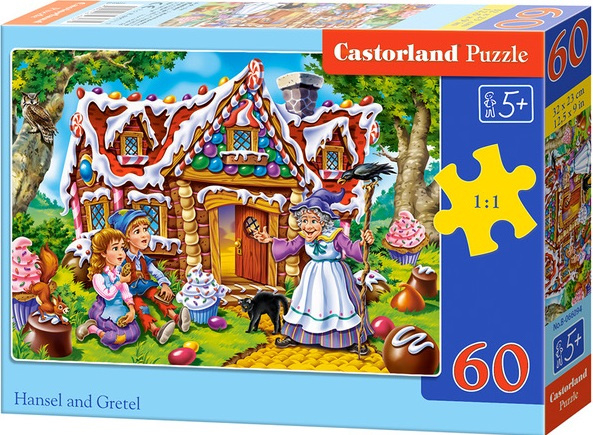 Puzzle Castorland 60 dílků - Jeníček a Mařenka