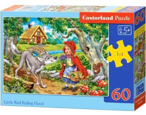 Puzzle Castorland 60 dílků - Červená Karkulka s vlkem
