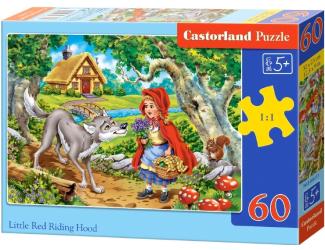 Puzzle 60 dílků - Červená Karkulka s vlkem