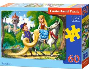 Puzzle Castorland 60 dílků - Locika na koni (Rapunzel)