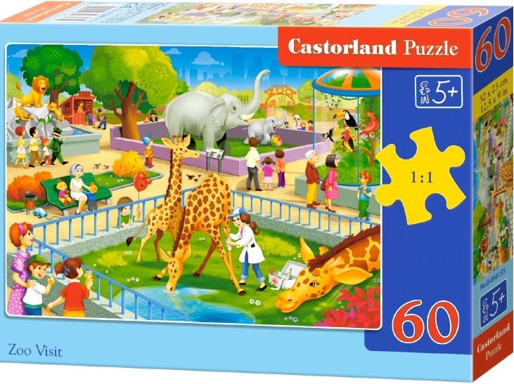 Puzzle Castorland 60 dílků - Návštěva ZOO