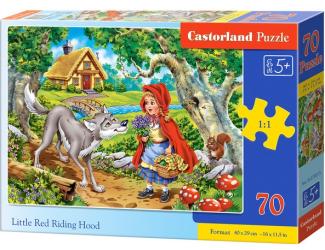 Puzzle Castorland 70 dílků premium - Červená Karkulka s vlkem