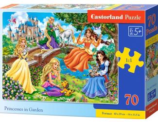 Puzzle 70 dílků premium - Princezny v zahradě