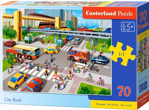 Puzzle Castorland 70 dílků premium - Křižovatka