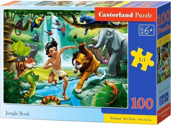 Puzzle Castorland 100 dílků premium - Kniha Džuglí