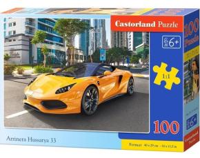 Puzzle Castorland 100 dílků premium - Arrinera Hussarya 33 - žluté