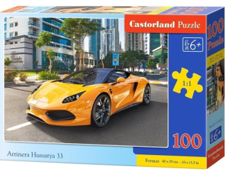 Puzzle 100 dílků premium -  Arrinera Hussarya 33 - žluté