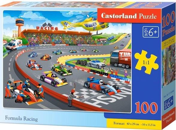 Puzzle Castorland 100 dílků premium - Závod formulí