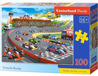 Puzzle 100 dílků premium - Závod formulí