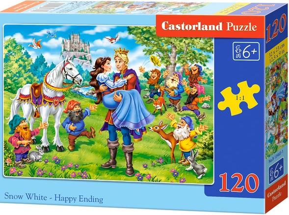 Puzzle Castorland 120 dílků - Šťastný konec pro Sněhurku