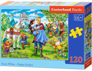 Puzzle 120 dílků - Šťastný konec pro Sněhurku