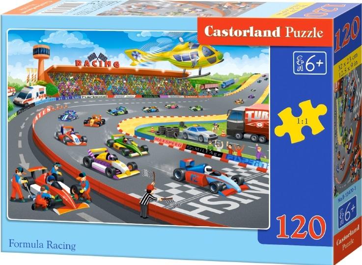 Puzzle Castorland 120 dílků - Závod formulí