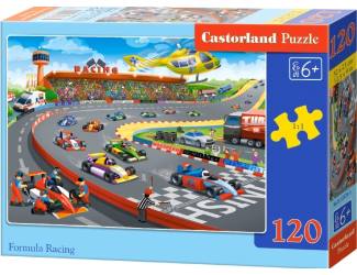 Puzzle 120 dílků - Závod formulí