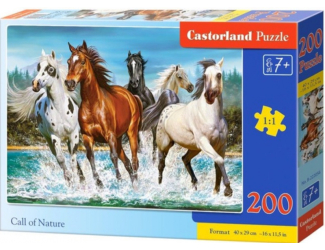 Puzzle 200 dílků premium - Běžící koně (volání divočiny)