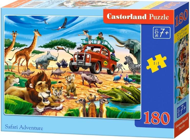 Puzzle Castorland 180 dílků - Dobrodružství na Safari