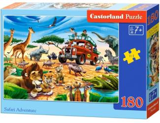 Puzzle 180 dílků - Dobrodružství na Safari