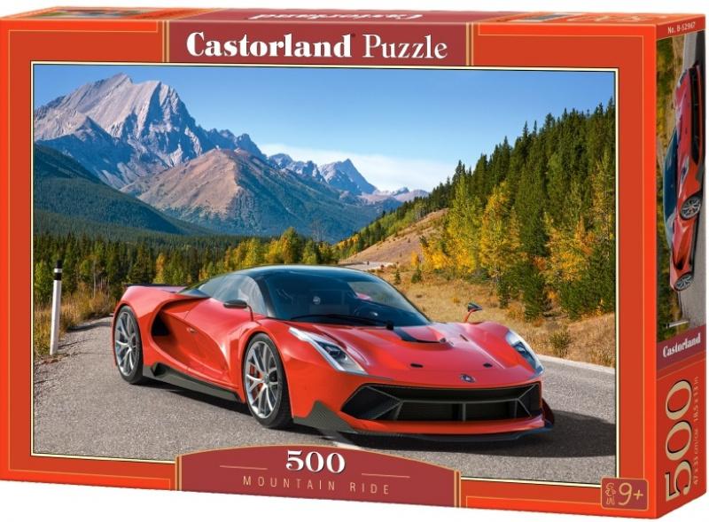 Puzzle Castorland 500 dílků - Červené auto v horách