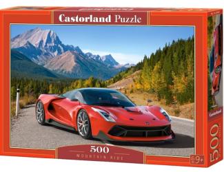 Puzzle 500 dílků- Červené auto v horách