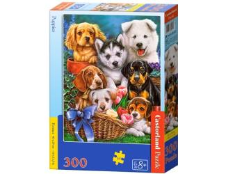 Puzzle 300 dílků- Štěňata