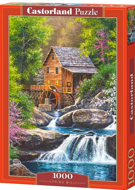 Puzzle Castorland 1000 dílků - Mlýn s vodopádem