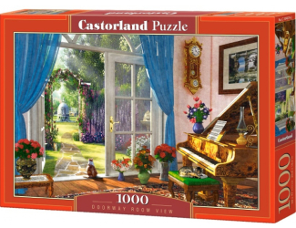 Puzzle Castorland 1000 dílků - Pohled do pokoje