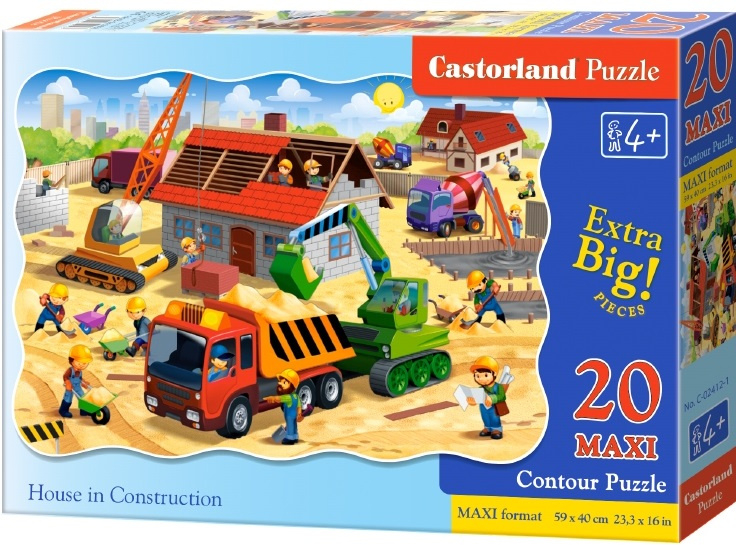 Puzzle Castorland MAXI 20 dílků - Stavba domu