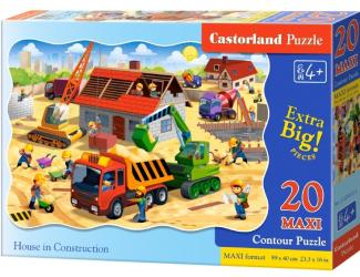 Puzzle maxi 20 dílků- Stavba domu
