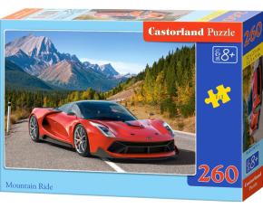 Puzzle Castorland 260 dílků - Červené auto v horách