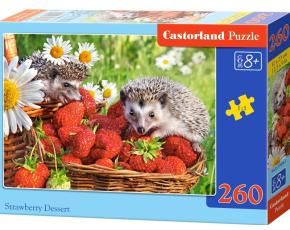 Puzzle Castorland 260 dílků - Ježci v jahodách