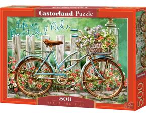 Puzzle Castorland 500 dílků - Bicykl s květinou