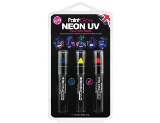 Sada tužek Neon UV - modrá, žlutá, červená 3,5 g