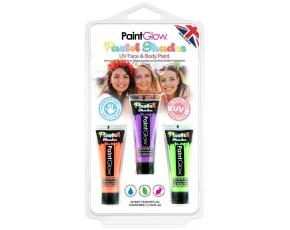 Sada pastelových UV barev - oranžová, fialová, zelená 13 ml