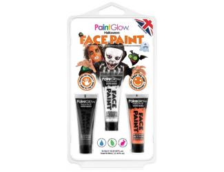 """Sada barev -""""Halloween"""" - černá, bílá, oranžová"""