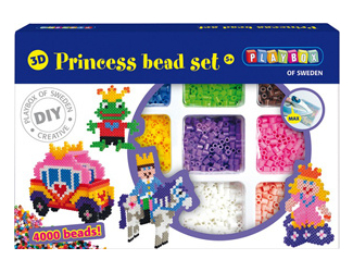Zažehlovací korálky 3D, 4000 ks, princezna