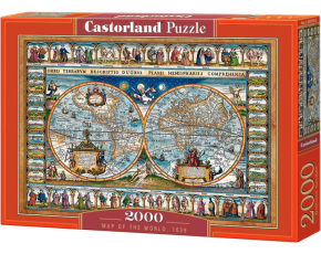 Puzzle Castorland 2000 dílků - Mapa světa 1639