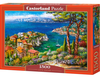 Puzzle 1500 dílků- Azurové pobřeží