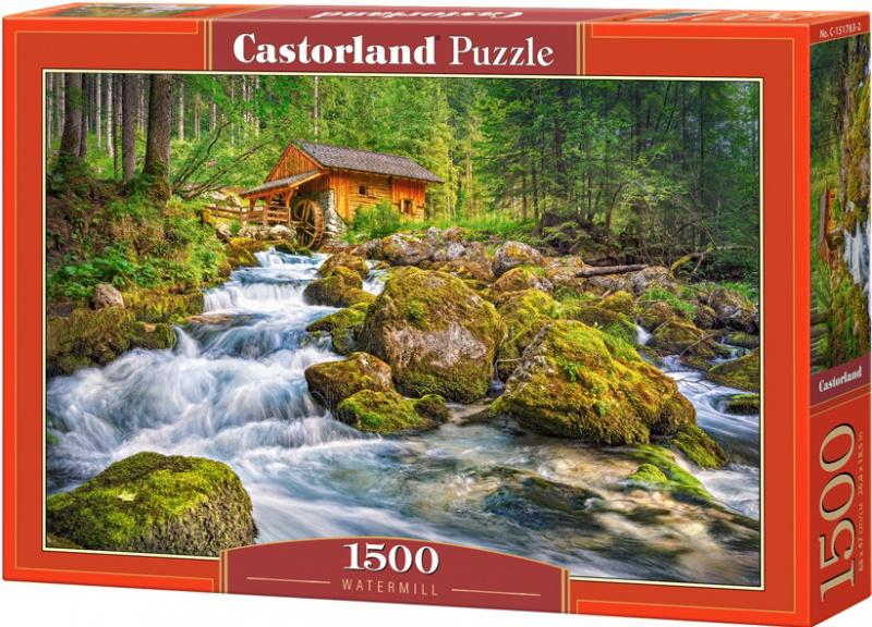 Puzzle Castorland 1500 dílků - Vodní mlýn